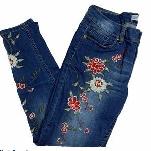 Sandpiper High Rose Embroidered Skinny Jeans